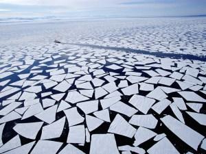 Ice Break in Nature