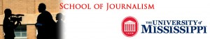 Journalism banner with news crew silhouette