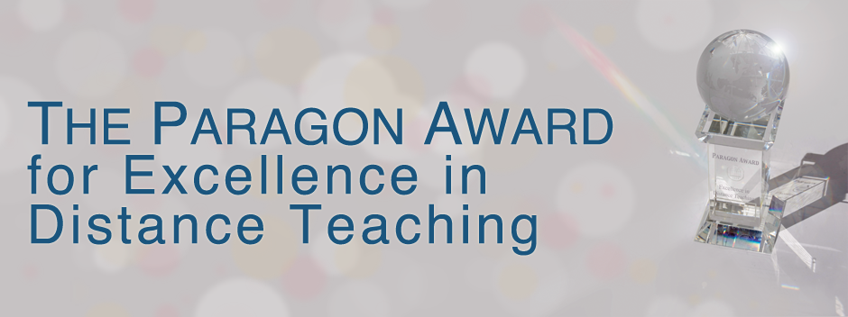 The Paragon Award for Excellence in Distance Teaching