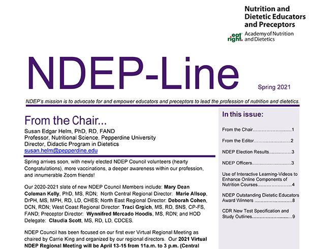 Thombnail of NDEP-Line Spring 2021
